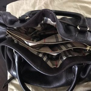 Burberry Bags - Burberry Golderton Chocolate Calf Leather Handbag